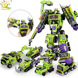 709pcs 6in1 Transformation Robot Building Block City Engineering Excavator car truck constructor Bricks toy For Children C1114