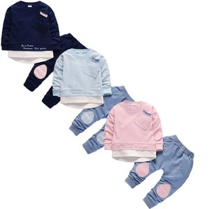 Spring Autumn Baby Boys Girls Clothes Fashion Cotton Infant Sports Suit for Boy Printed T-Shirt +Pants 2 pcs Children Clothing X0923