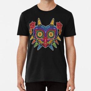 Zelda Majoras Mask Día de los Muertos camiseta zelda floral del día del cráneo muerto deporte Trifuerza tribal Sudadera con capucha
