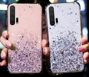 Bling Glitter Soft TPU Case For Samsung Galaxy S20 FE A42 5G M51 Xiaomi Poco X3 Star Shine Foil Clear Shell Cell Phone Rubber Cover Luxury