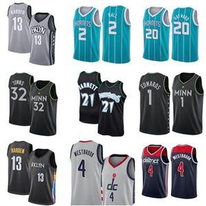 Russell 4 Kevin Westbrook Garnett Anthony 21 1 32 Karl-Anthony Edwards Towns Basket Jersey Lamelo 2 Ball Gordon 20 Hayward