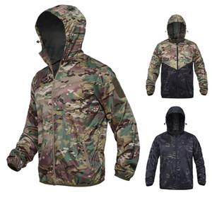 Caça ao ar livre tiro de montanhismo roupas caminhadas roupas à prova de vento camuflagem leve ultra fino windbreaker jaqueta p05-127