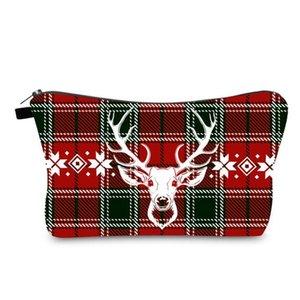 Printed Pouch Sundries Storage Bags Christmas Cosmetic Cross Border Bag Fashion Handbag Portable Travel Zipper Organizer