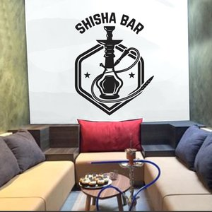 Shisha Bar Wall Stickers House Decors Living Room Art Wall Decals Hookah Shop Polygon Wallpaper Pattern Removable