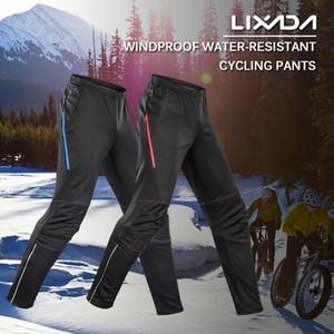 Calças de bicicleta à prova d'água dos homens Lixada térmica velo Windproof impermeável inverno bicicleta equitação esportes funcionar Calças Calças