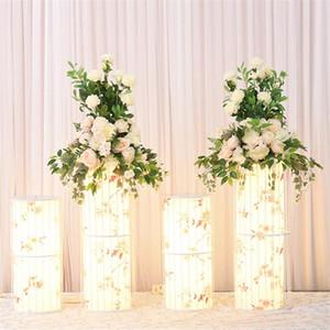 Декоративные цветы венки Флаоне Свадьба Китайский реквизит цилиндрический освещение дорожные ведущие центральные макеты орнаменты креативны