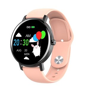 Smart Watch R18 Round Touch Sports Music Control Bracelet Heart Rate Monitor Blood Pressure Fitness Tracker Alarm Color Screen jllbAd