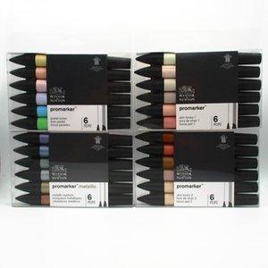Winsor & Newton Promarker Set Art Markers 6pcs New Style 201102
