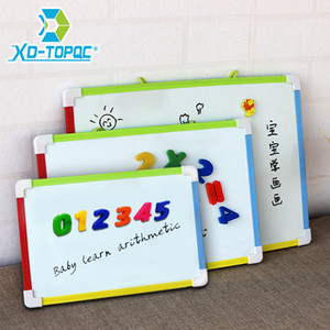 3 Style Kids Whiteboard Magnetic Dry Eraser White Board With Free Gifts Number Magnets Preschool Children Memo Message Boards 201116
