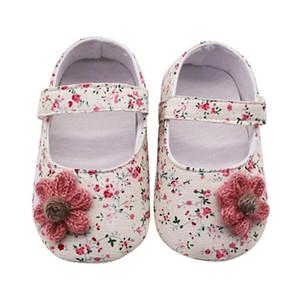 Toddler Baby Girl Shoes Soft Princess Shoes Cute Anti-Slip Flower Infant Prewalker Casual Newborn Baby