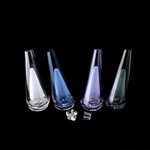Accesorios de vidrio de color pico beracky con inserto de cuarzo y tapa de vidrio con tapa de vidrio pico de reemplazo de vidrio que proporciona filtración y enfriamiento