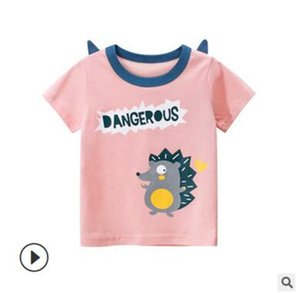 Europe and America 2020 new children's wear summer new girls short sleeve T-shirt wholesale cute cartoon baby clothes