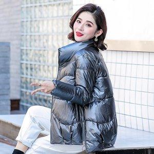 Petite veste rembourrée Hiver Femme Short Face Bright Work et Down Cotton Vêtements avec marée de printemps coréenne Lâche BF