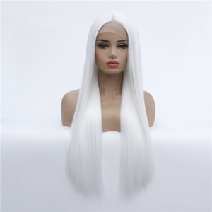 AILIN White Color Full Synthetic Lace Front Remy Wig Simulation Human Hair Soft Lacefront Wig de cheveux humains