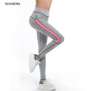 Aosheng Mujeres Pantalones deportivos Correr Ropa deportiva Stretchey Fitness Leggings Pantalas inconsútiles Gimnasio ActiveWear Pantalones T200601