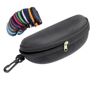 Chaud Oxford Tissu Noir Verres Noir Boîte De Soleil Protection Boîte Zipper Lunettes Lunettes de soleil Lunettes de soleil Crochet Crochet Eyewear Accessoires DHE2649