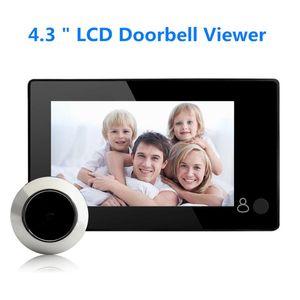 "4.3 ""HD Smart Electronic Peephole Digital Home Camera Hoolbell Peephole Viewer Video Night Vision 120 градусов Умная открытая дверь"