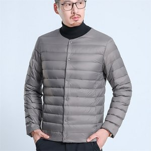 Yhavaton Autunno e Lightweight Interner Liner Warm Warm Winter Dad Down Piumino uomo Cappotto da uomo