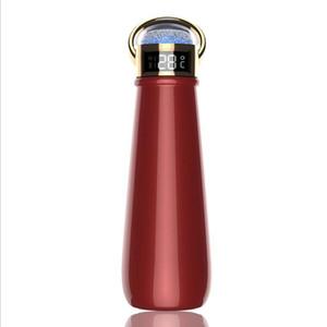 온도 표시 다이아몬드 컵 더블 벽 진공 플라스크 보온병 컵 커피 잔 비즈니스 선물 YYA501와 420ml 절연 물 병