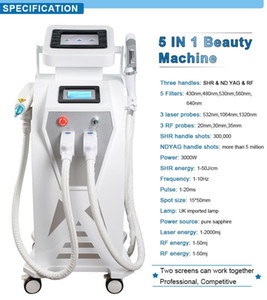 Double Screen 4 in1 Multi-function OPT IPL Laser therapy machine tattoo removal equipment vascular pigment acne therapy with q switched