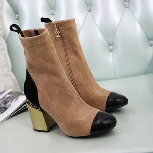 Designer autumn winter women shoes fashion 100% leather boots luxury Martin boots sexy woman letter High-heeled shoes Large size 35-40 A003
