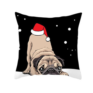 Christmas Sofa Pillowcase Santa Claus Elk Cartoon Printed Cushion Cover New Year Gifts Christmas Decorations For Home 45 45cm sqcRNB
