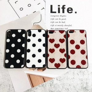 Vintage Polka Dot Tempered Glass Hard Phone Case For iPhone 12 11 pro max XR XS 8 7 6 Plus