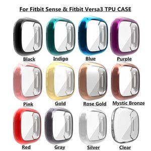 Cas de protecteur d'écran pour FITBIT SENSE / VERSA 3 TPU TPU Screen Screen Screen Cover Cover Bumper pour Fitbit Versa 3 Smartwatch