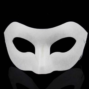 DIY hand painted white mask crown butterfly blank paper masquerade cosplay mask kid draw party props