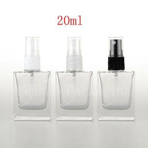 20ml empty square clear glass perfume bottles with mist atomizer , botella garrafa de spray,refillable spray vial