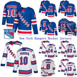 2019-20 New York Rangers Jersey 10 Artemi Panarin 24 Kaapo Kakko 23 Adam Fox 13 Alexis Lafreniere Hockey Jerseys