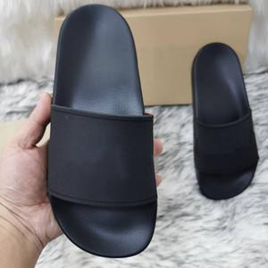 Yeni Sıcak Erkek Kadın Sandalet Ayakkabı Terlik Baskı Slaytlar Yaz Geniş Düz Lady Sandalet Kaydırıcı Kutusu Toz Çanta 35-45