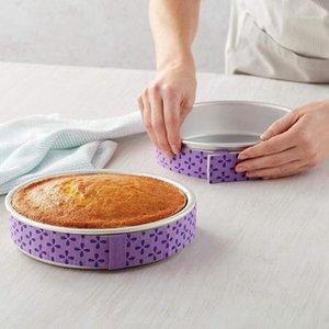 Bonita pastel Pan Strips Hornee incluso Banda de tira Hornee incluso Nivel húmedo Bandee de hornear Bandeja Anti-deformación Strip Pastel Herramienta para hornear1