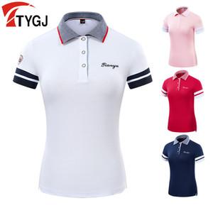 Летний гольф носить одежда женская рубашка стройная подходит спортивный мяч костюм женщин дышащий с коротким рукавом тренажеры футболки