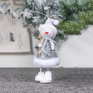 christmas angel doll pendant creative cute angle snowman design hanging ornament xmas tree angel deer hanging decoration EWA1961