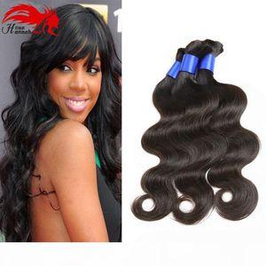 7A Top Calidad Micro Mini Braiding Bulk Hairs Sin procesar por trenzado Sin apego Body Wave 3PCS HUMAN A Braiding Hair Bulk