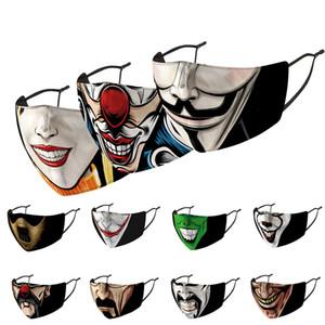 2020 Partei-Erwachsener Masken Magie Clown Gesichtsmaske Multi Use Hals Sonnenschutz Mundmasken-Partei-Schablonen