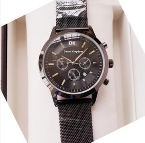 Hot Kingdom Brand New Mens Watches 43mm Top Brand Mens Sport Watch Chronograph Waterproof Quartz Wrist Watch Relogio Masculino