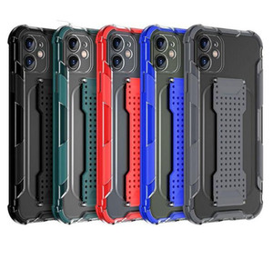 For iphone 12 Case Luxury New Soft Silicone Wrist Strap Phone Case For iphone 12 Pro Max Full Protection Clear Back Cover