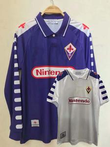 Rétro classique 1998 1999 Fiorentina Florence Batistuta Rui Costa Jerseys Jerseys Football Chemise de football rétro S-2XL