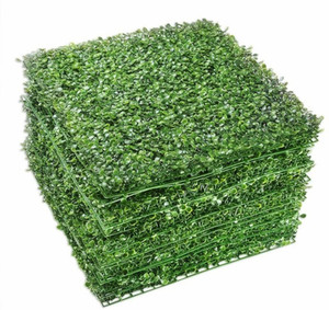 Artificial Boxwood Panels - 20 Pieces Faux Hedge Wall Backdrop, for Outdoor, Balcony, Garden Fence Screen and Indoor Wall Decor