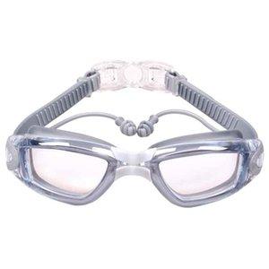 2021 professional anti-fog UV protection plating adjustable earplugs swimming goggles men women waterproof silicone glasses adult glasses