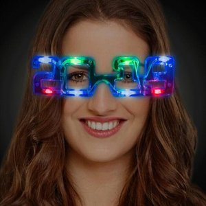 Cgjxs Girl Birthday clignotant Light Party Supplies Lunettes 2020 Masque cosplay yeux Haoxin pour le costume adulte Glowing Led Navidad Boy Cgjxs Oaxm
