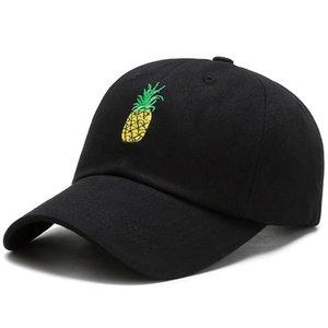 Cokk Baseball Cap Women Embroidered Pineapple Hip Hop Snapback Hats For Women Men Cotton Adjustable Korean Fashion Hat Female Swy sqcefB