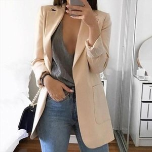 Elegent Solid Color Lapel Long Sleeve Business Women Blazer 5XL Coat Suit Jacket Female Outerwear blazers Outerwear High Quality