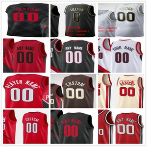 Personalizado Impresso Damian 0 Lillard CJ 3 McCollum Jusuf 27 Nurkic Carmelo 00 Anthony 33 Covington Homens Mulher Kids Portland Trail Blazers Jerseys