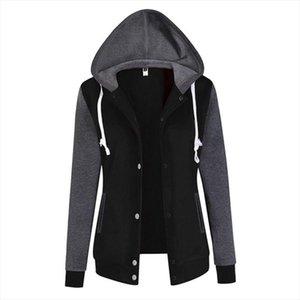 Womens Autumn Winter Warm Hooded Sweatshirt Fashion Splicing Sleeve Loose Hoodies Pullover Jumper Top Size S XL NQ835240