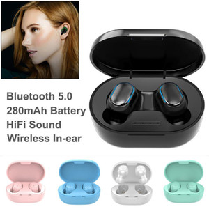 Earphone TWS A6S Headphone 5 Colors Bluetooth 5.0 Earbuds Bluetooth Headset with Mic for Xiaomi Huawei Samsung Smart Phones