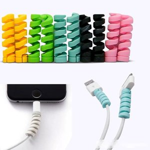 Spiral Charger Cable Protector Date Cable Charging Cord Protective for iPhone Samsung Mackbook Earphone Cable Cover