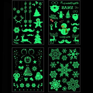 1pcs Christmas tattoo stickers waterproof Luminous tattoo christmas gift for kids navidad natal body sticker noel 21X15cm